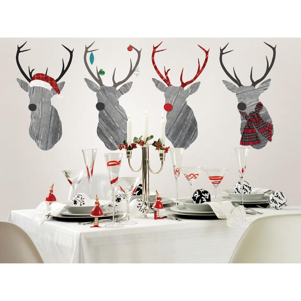 59 in. x 25 in. Reindeer Games Large Wall Art Kit