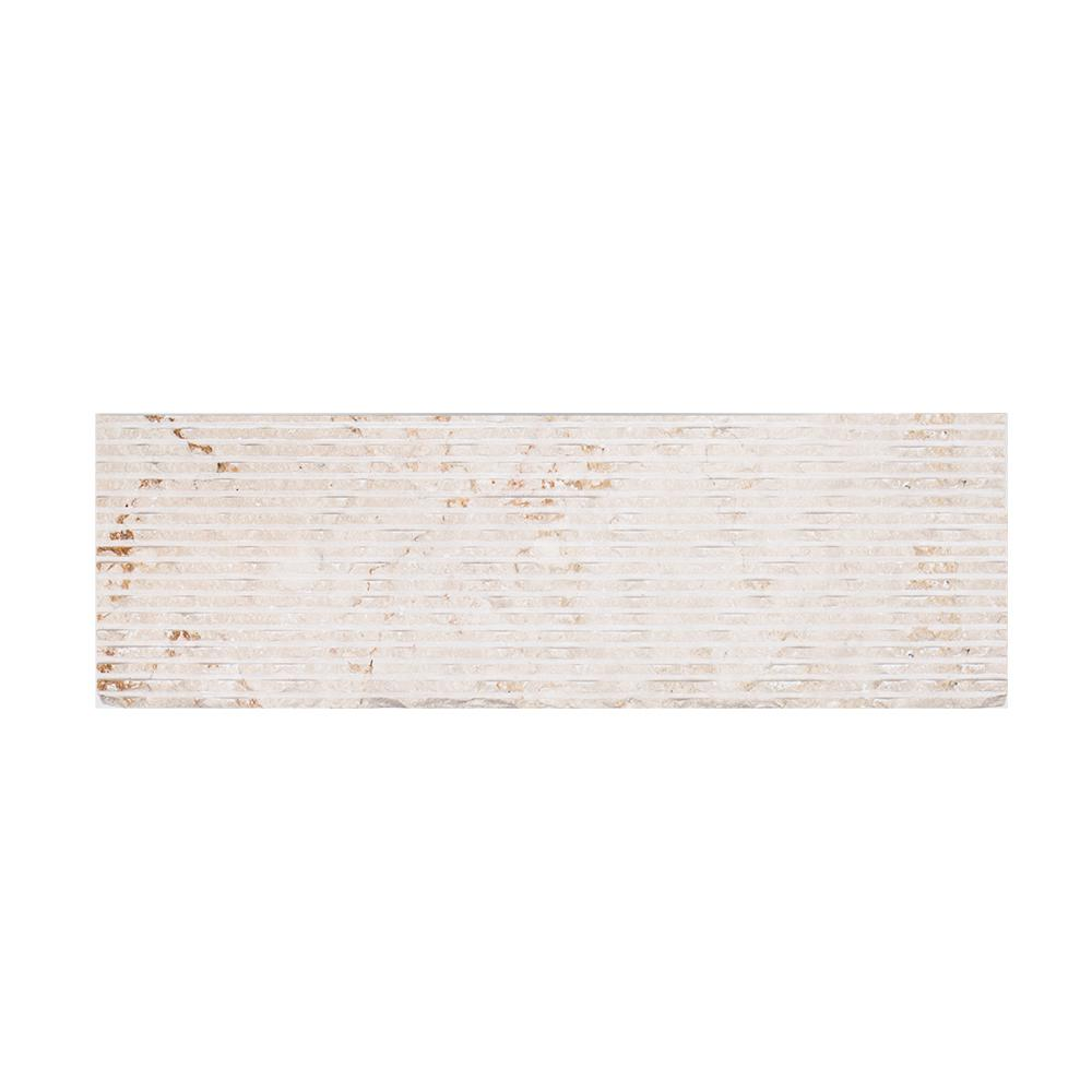 Jeffrey Court Sand Storm 3.875 in. x 12 in. x 15 mm Marble Wall Tile (1 sq. ft./ pack)