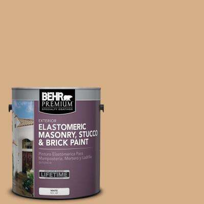 1 gal. #BXC-67 Santa Fe Tan Elastomeric Masonry, Stucco and Brick Exterior Paint