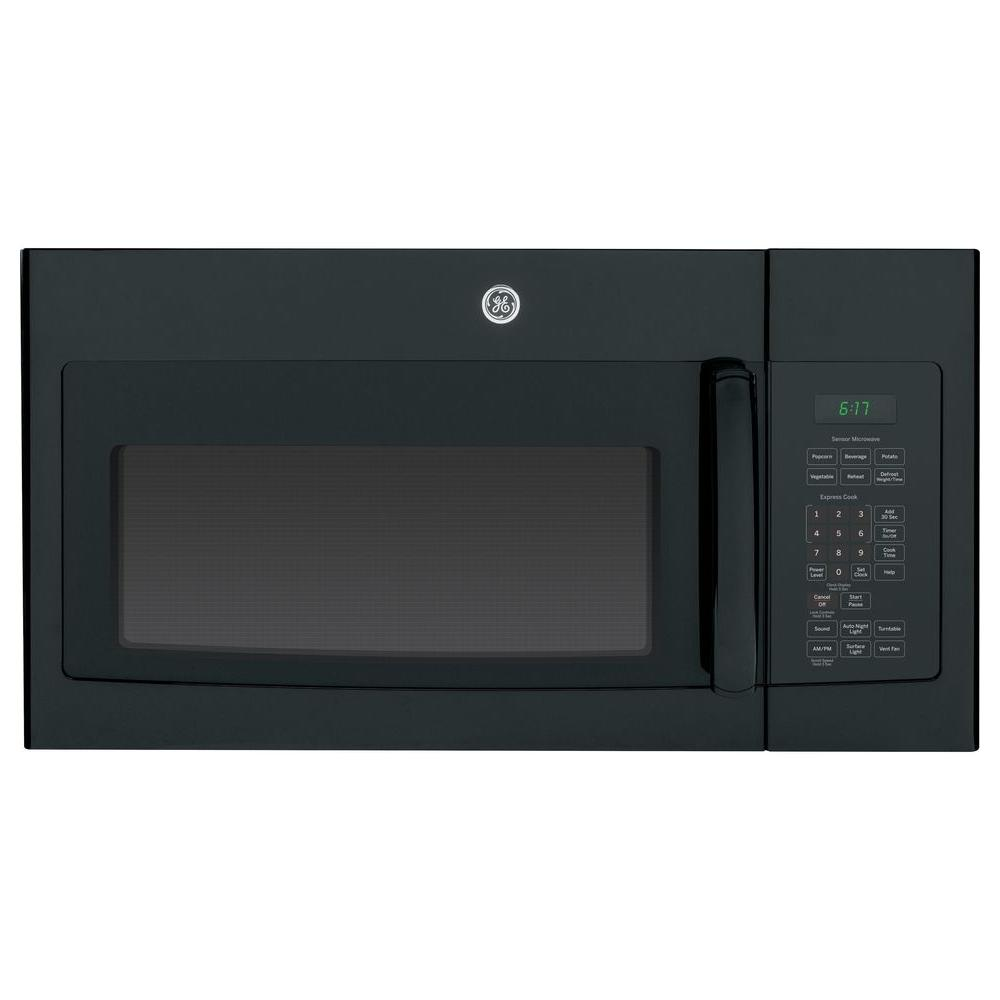 GE 1.7 cu. ft. Over the Range Microwave in Black with Sensor Cooking