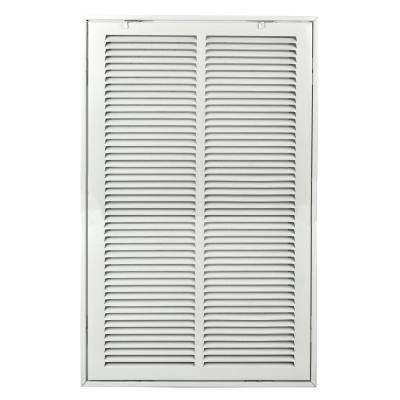 12 in. x 24 in. White Return Air 1 in. Filter Steel Grille