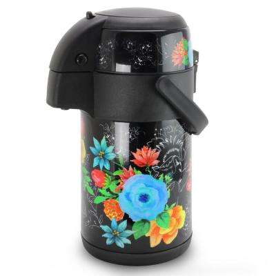Floral Garden 75 oz. Multi-Color Double Wall Pump Pot with Carry Handle