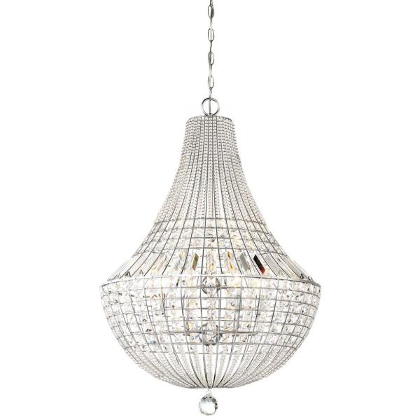 Braiden 9-Light Chrome Pendant