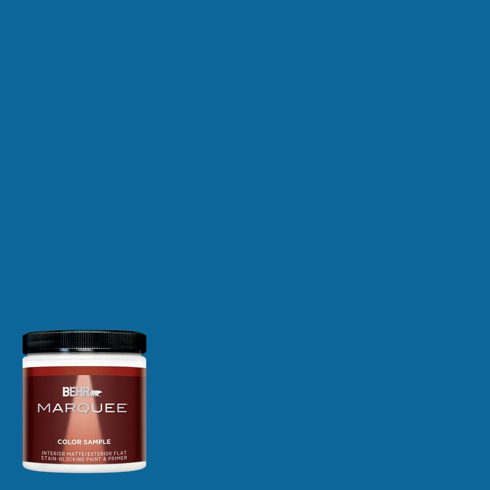 8 oz. #MQ4-58 Mondrian Blue Interior/Exterior Paint Sample