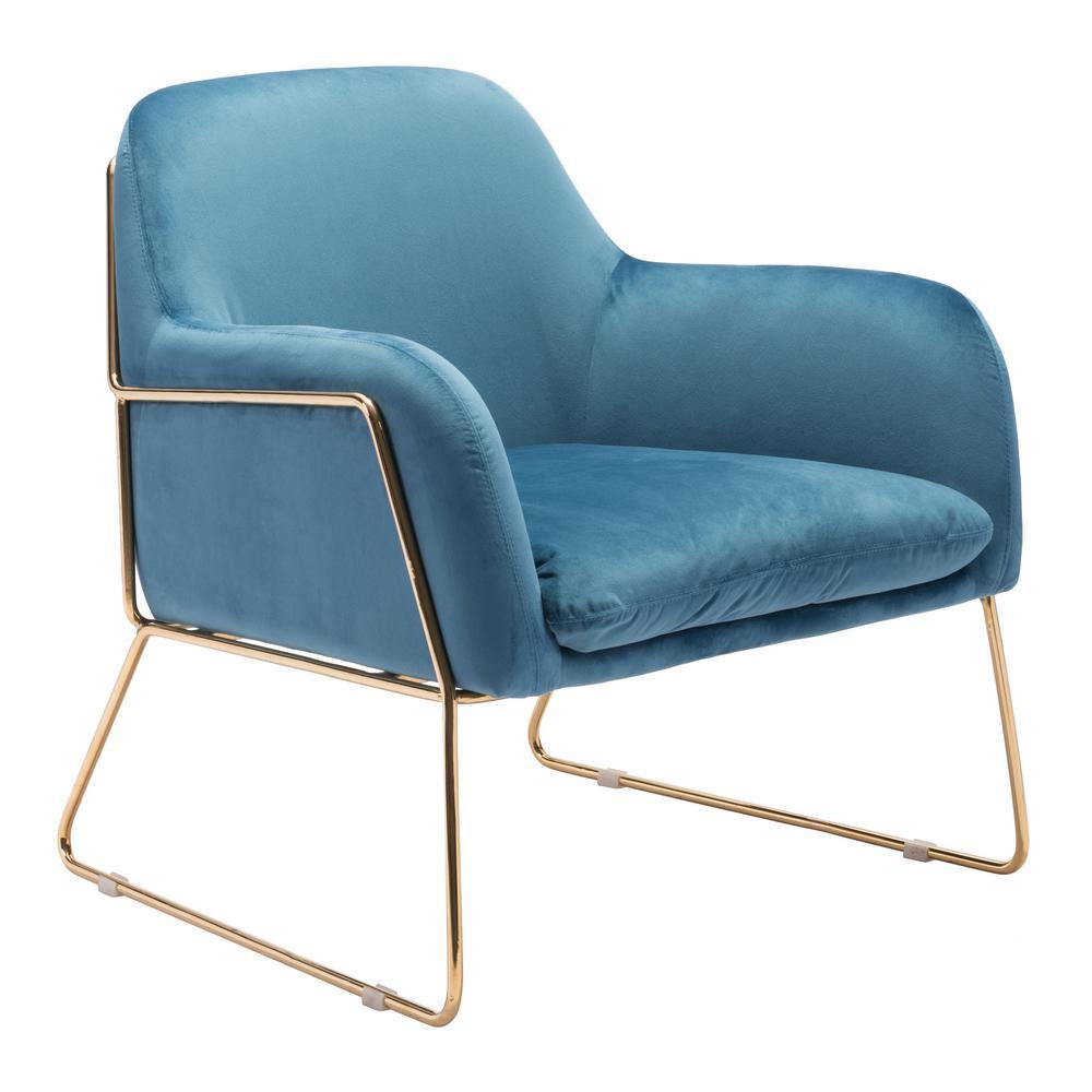 Nadir Blue Velvet Arm Chair