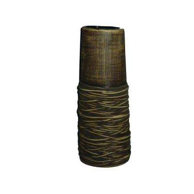 16.3 in. H Ceramic Decorative Vase in Brown