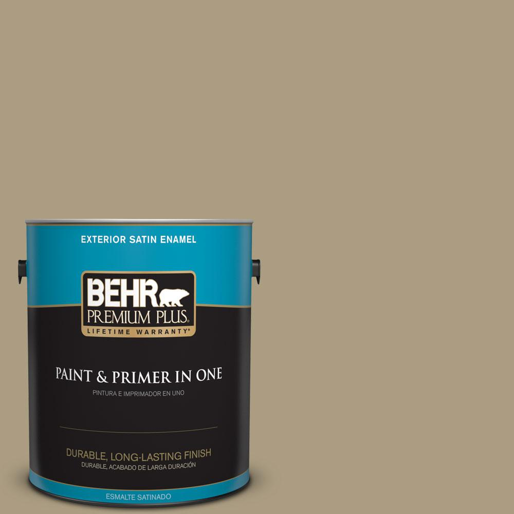 1-gal. #BNC-16 Winter Sage Satin Enamel Exterior Paint