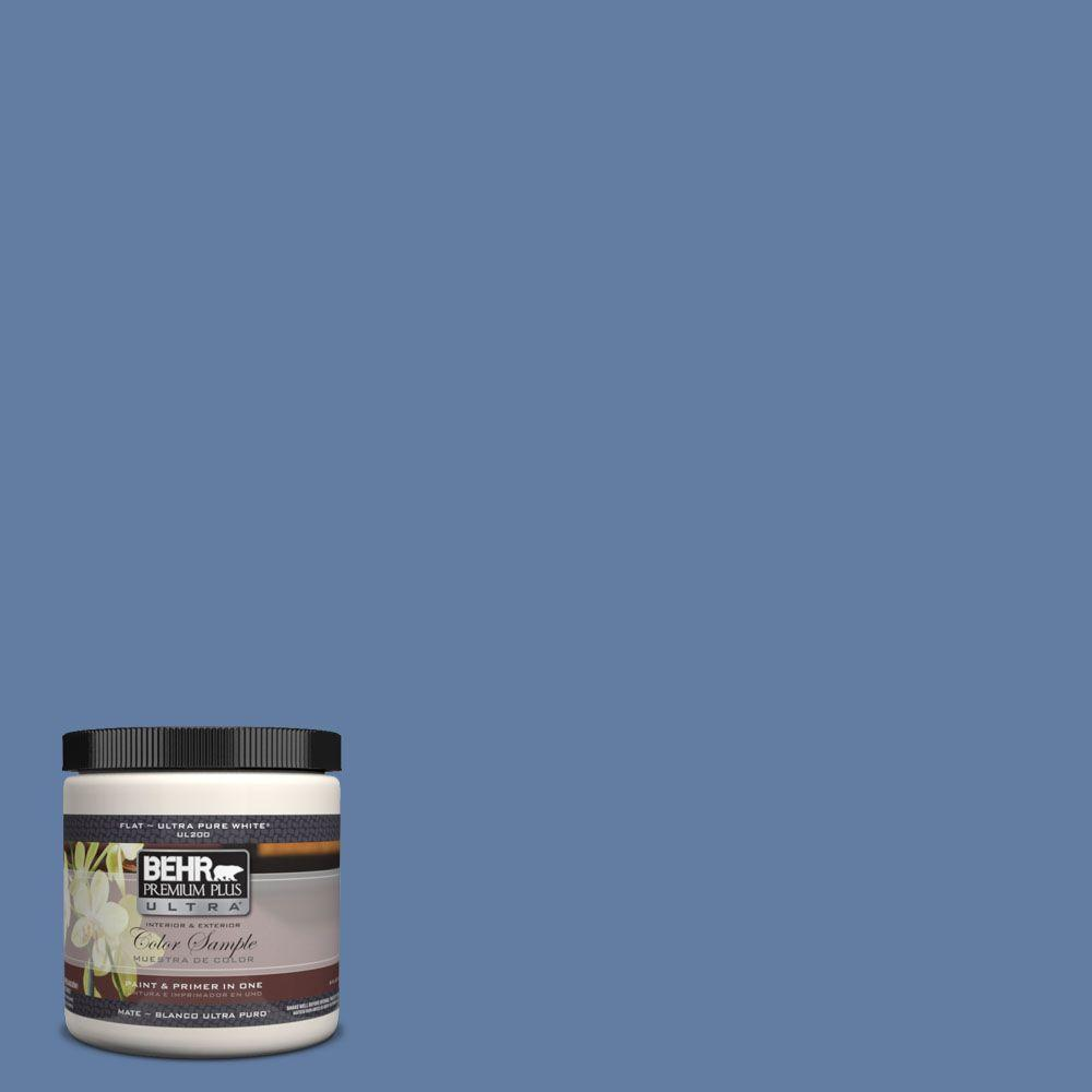 BEHR Premium Plus Ultra 8 oz. #600D-6 Blueberry Patch Interior/Exterior Paint Sample