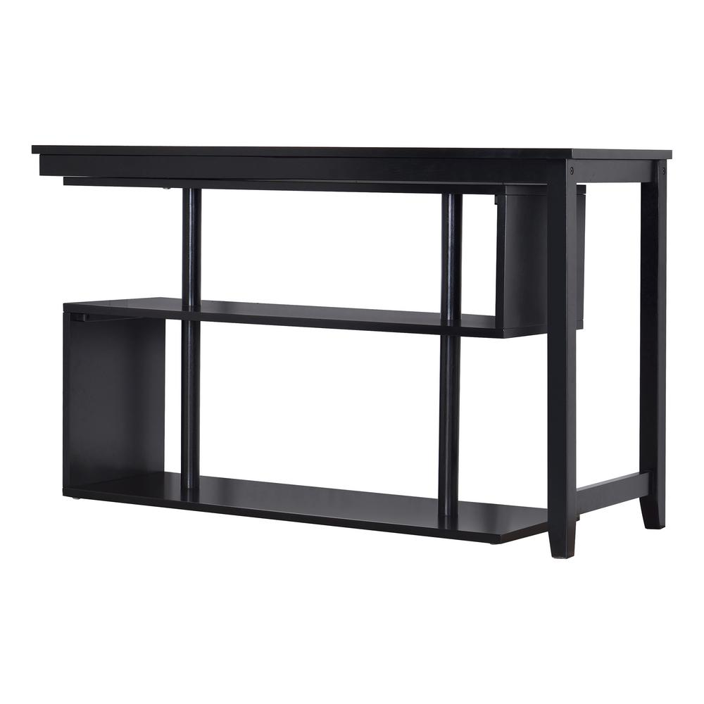 Hamburg Contemporary Virginia Black Swing Out Desk