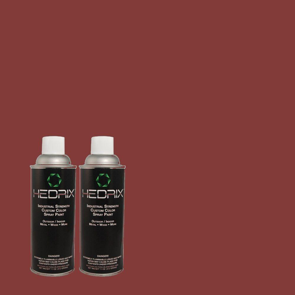 Hedrix 11 oz. Match of S-H-110 Wine Tasting Flat Custom Spray Paint (2-Pack)