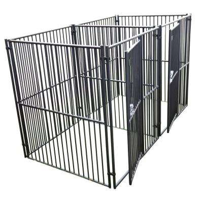 Lucky Dog 6 ft. H x 5 ft. W x 5 ft. L European Style 2 Run Kennel with Common Wall