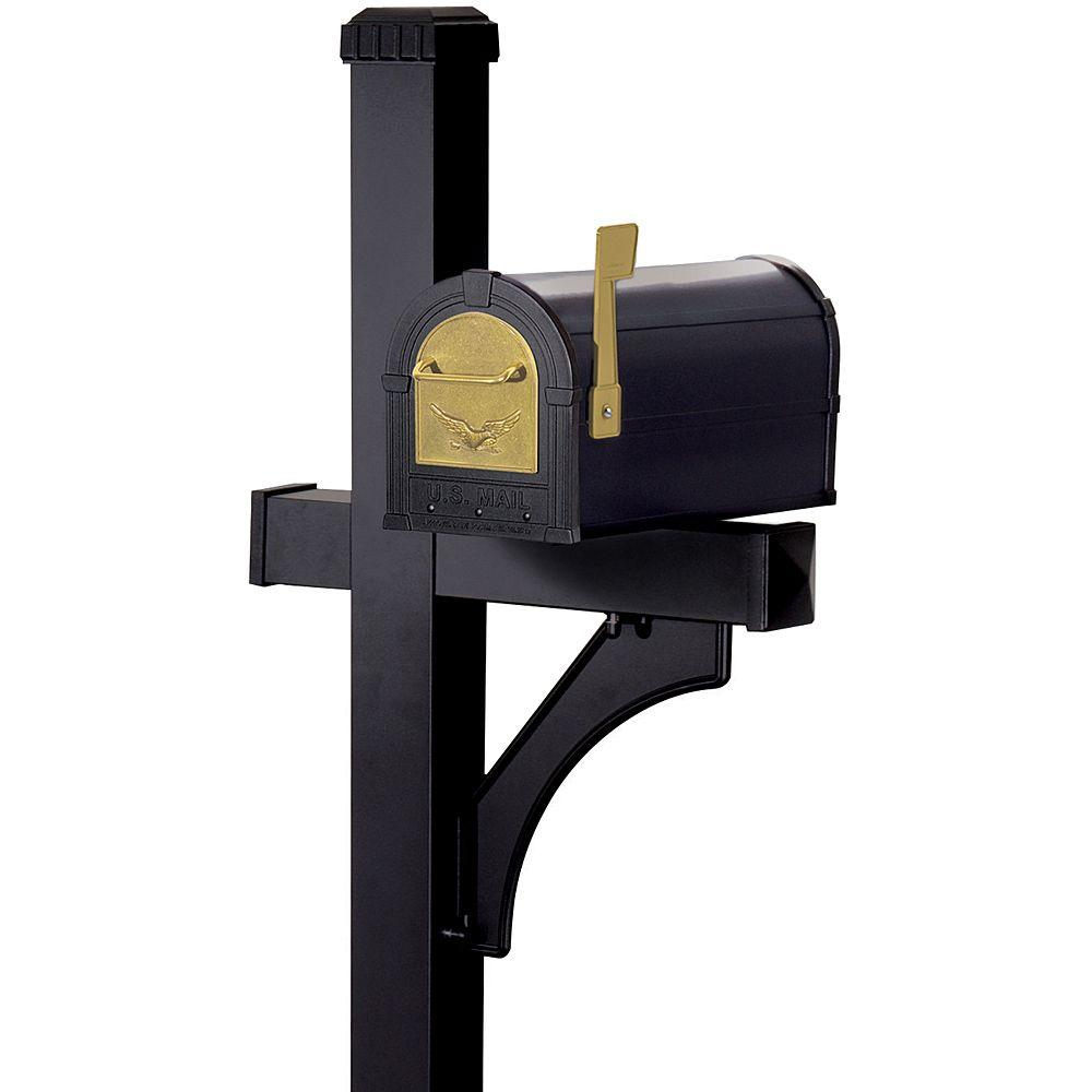 Salsbury Industries Heavy-Duty Eagle Rural Mailbox with Deluxe Post-DISCONTINUED