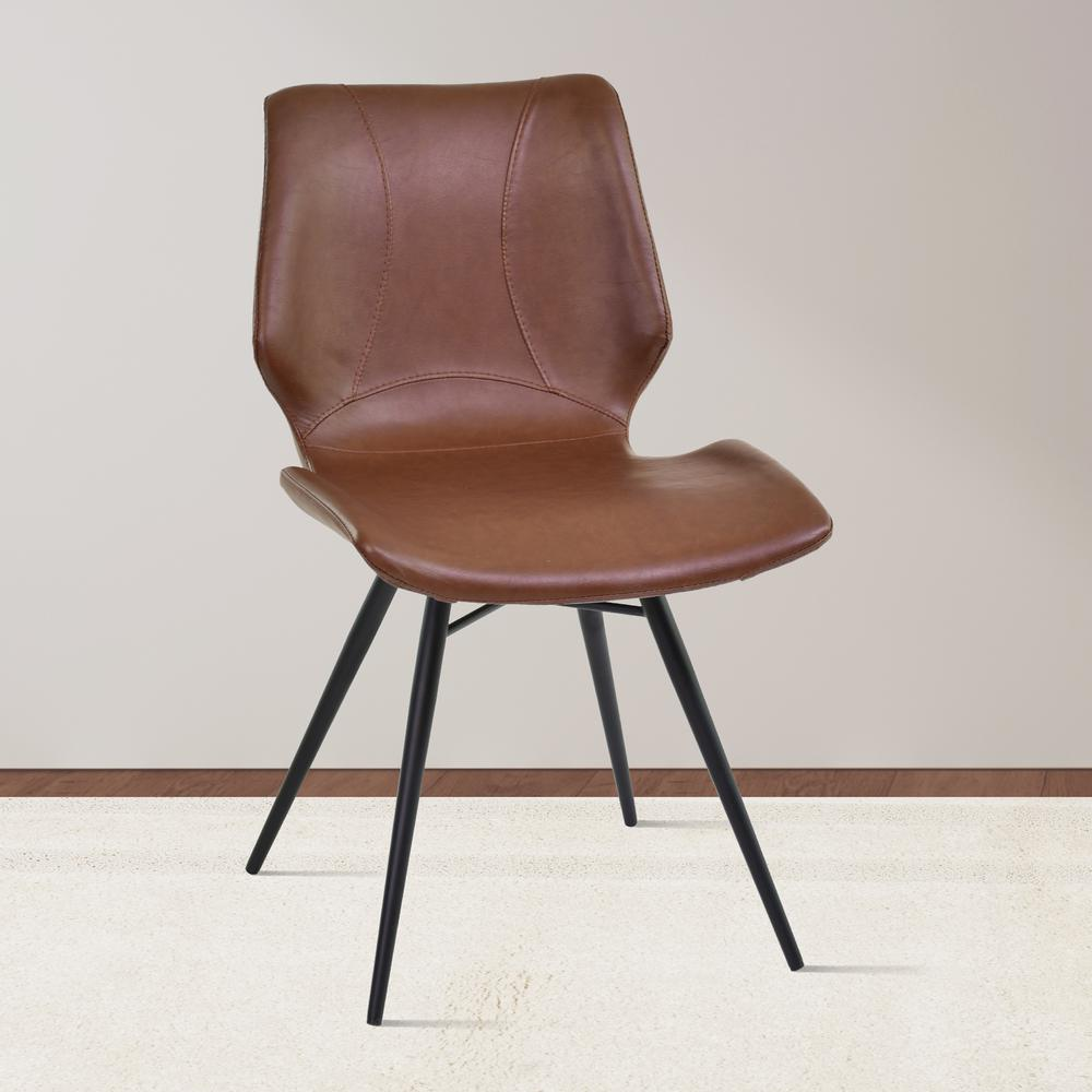 Armen living zurich 32 in vintage coffee faux leather and for Outdoor furniture zurich