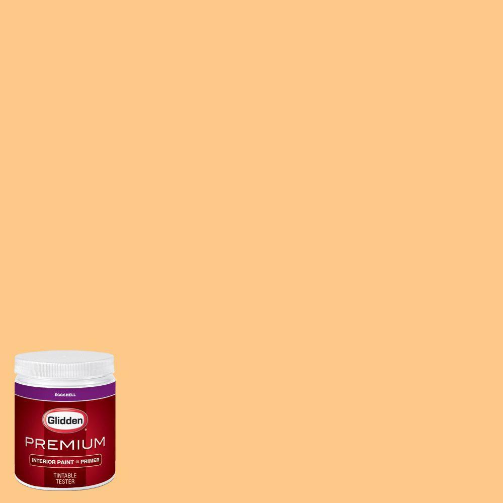 Glidden Premium 8 Oz Hdgo54u Pale Orange Eggshell Interior Paint Sample With Primer Hdgo54up