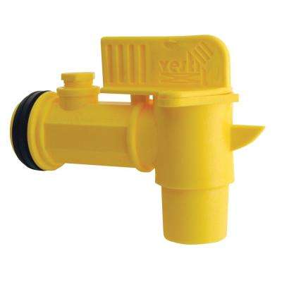 Plastic Drum Faucet for Threaded 3//4 Opening Pack of 12