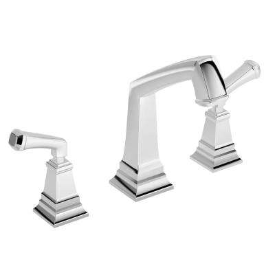 Oxford 2-Handle Deck Mounted Roman Tub Faucet in Chrome