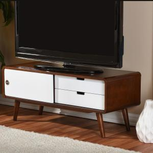 Internet 301174714 4 Baxton Studio Armani White And Medium Brown Wood Finished Tv Stand