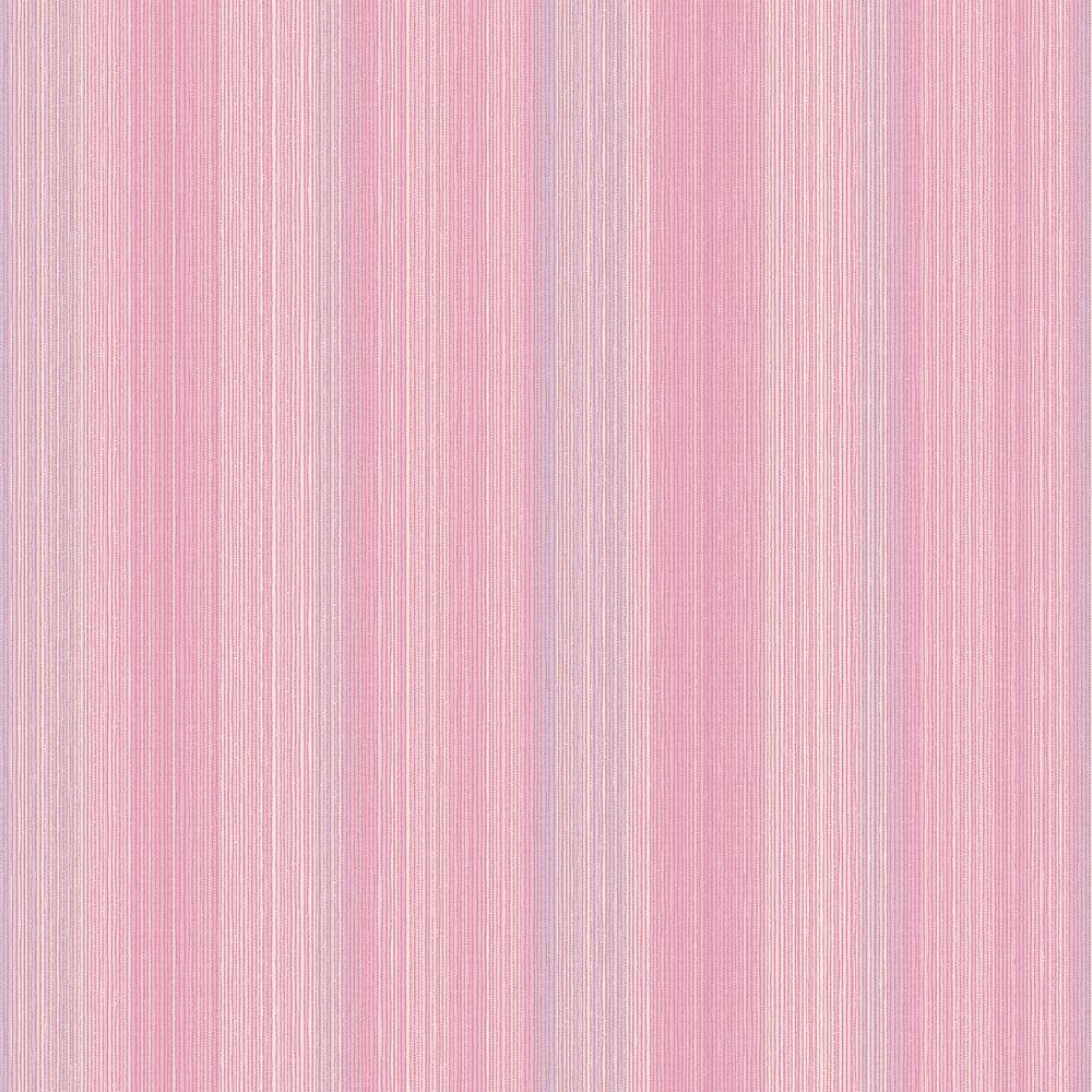The Wallpaper Company 56 sq. ft. Multi Col String Stripe Raised Inks Bubble Gum Pink Wallpaper