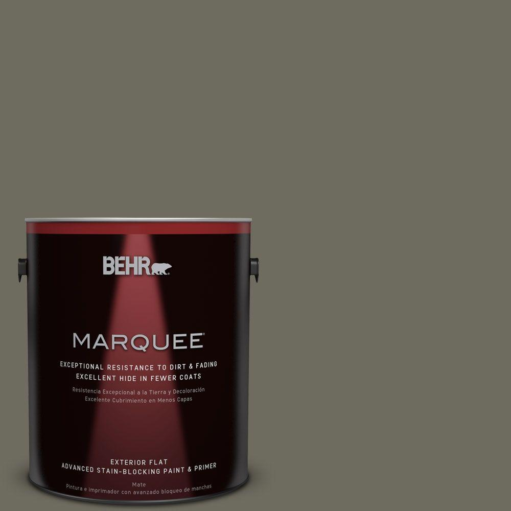 1-gal. #N370-6 Gladiator Gray Flat Exterior Paint