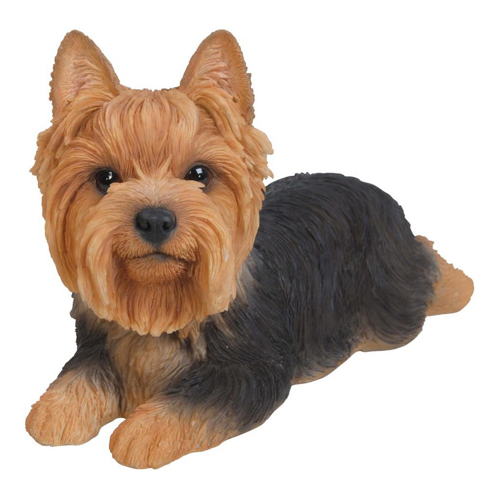 Yorkshire Terrier Lying Down Statue