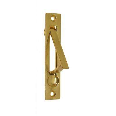 4 in. Solid Brass Edge Pull in Polished Brass No Lacquer