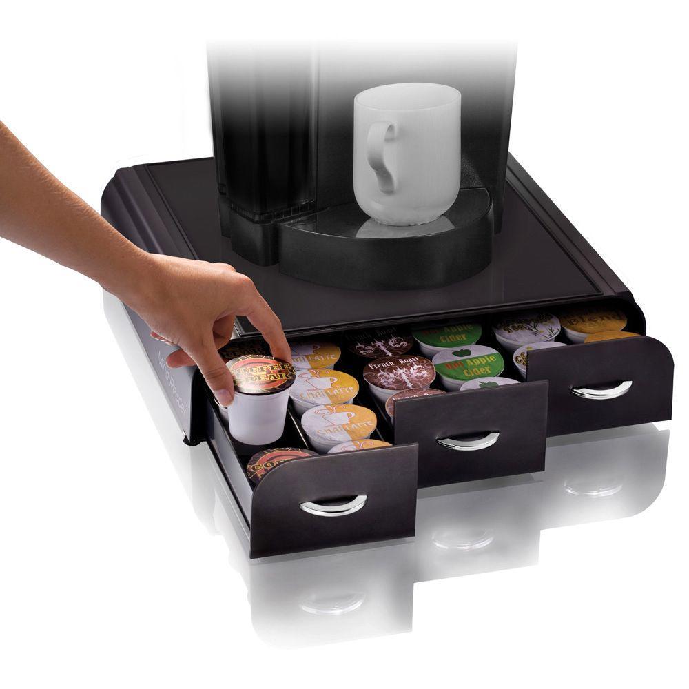Mind Reader Anchor 36 Capacity Black K Cup Storage Drawer