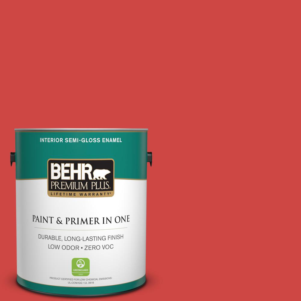 BEHR Premium Plus 1-gal. #P170-6 Race Car Stripe Semi-Gloss Enamel Interior Paint