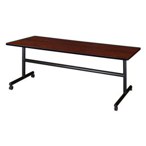 Kobe Cherry 72 in. W x 30 in. D Flip Top Mobile Training Table