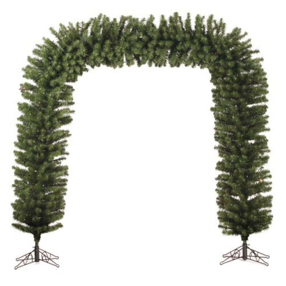 darice commercial size 9 ft x 8 ft green pine artificial christmas archway unlit