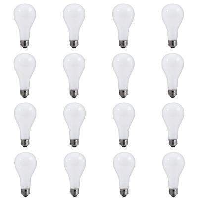 50/100/150-Watt A21 Frost Dimmable Light 3-Way Incandescent Light Bulb Warm White (12-Pack)