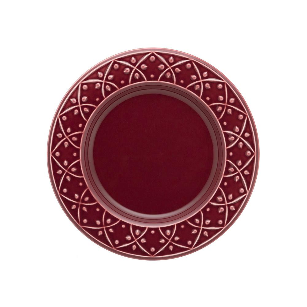 Manhattan Comfort 7.87 in. Mendi Maroon Red Salad Plates (Set of 6) was $69.99 now $39.06 (44.0% off)