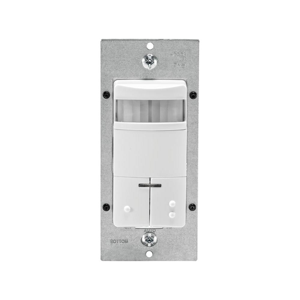 Leviton Decora Dual-Relay Passive Infrared Wall Switch Occupancy Sensor, CA ONLY - White-DISCONTINUED