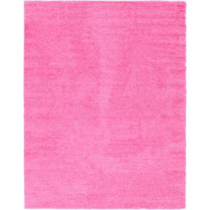 Solid Shag Taffy Pink 10 ft. x 13 ft. Area Rug
