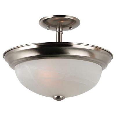 Windgate 2-Light Brushed Nickel Semi-Flush Mount Convertible Pendant