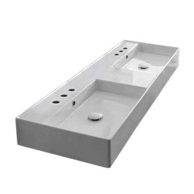 Teorema 2 Wall Mounted and Vessel Sink in White