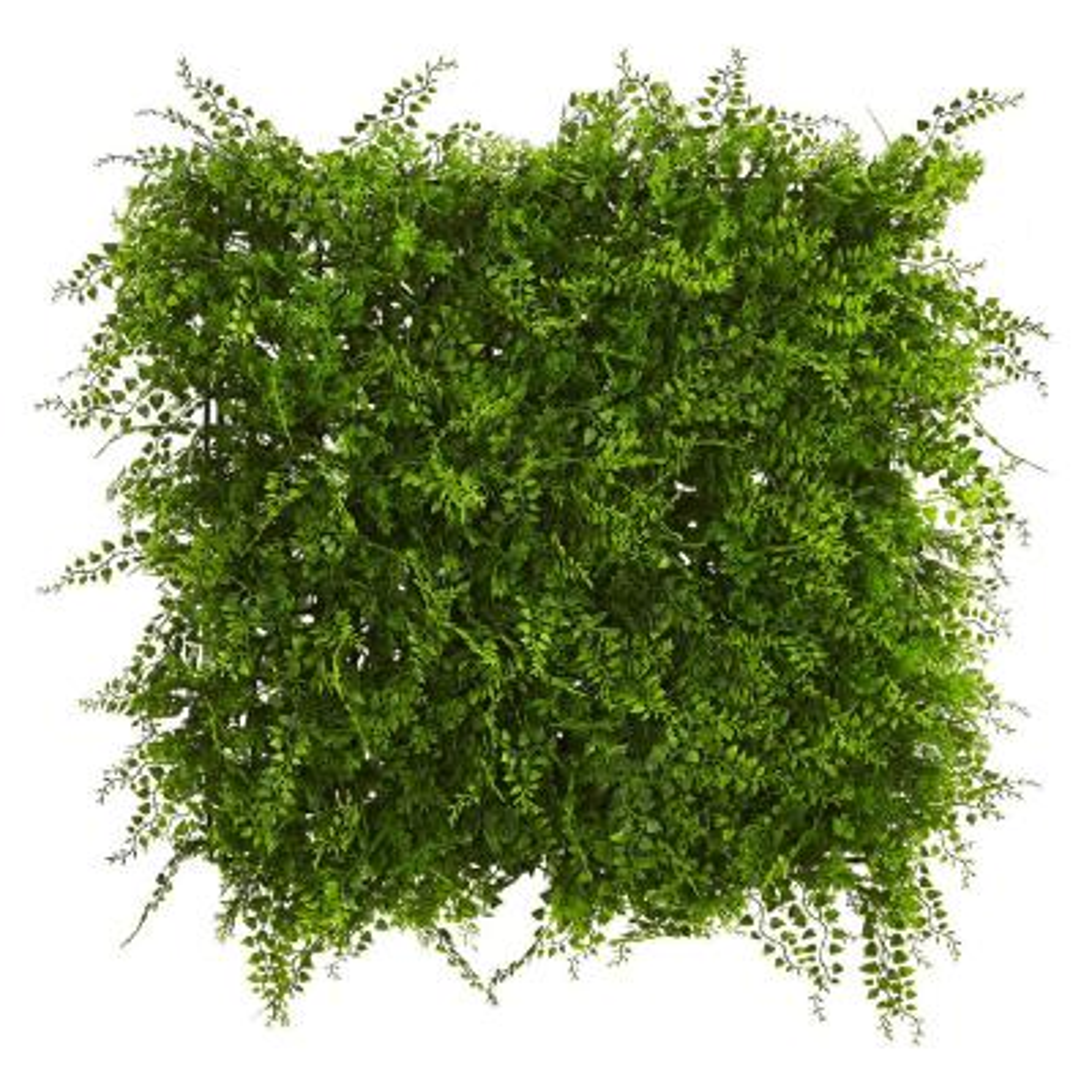 20 in. x 20 in. Indoor/Outdoor Lush Mediterranean Artificial Fern Wall Panel UV Resistant