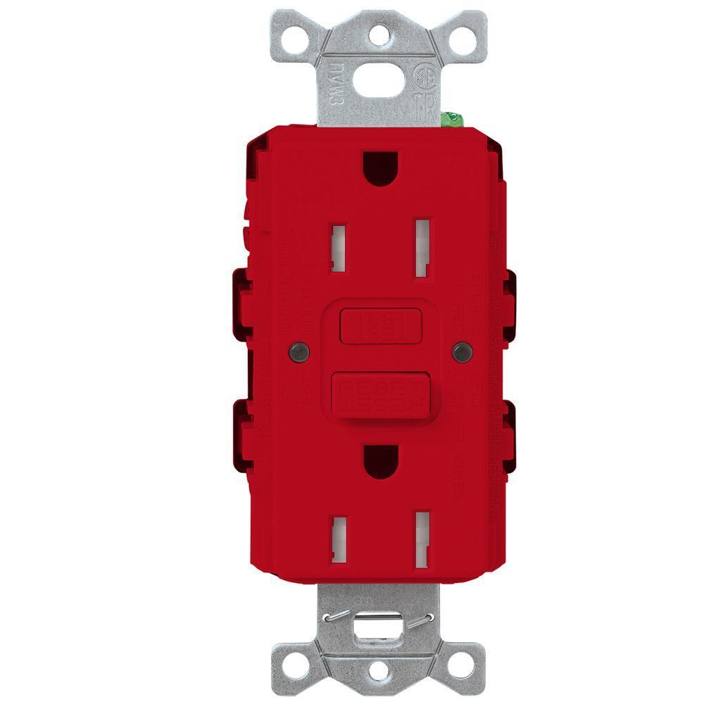 Satin Colors 15-Amp Tamper-Resistant GFCI Duplex Receptacle - Hot