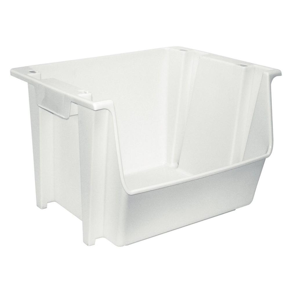 United Solutions 5 Gal. White Large Nesting/Stacking Bin-SB0041 ...