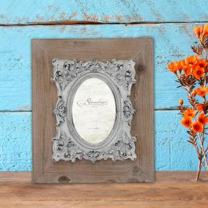 Stonebriar Collection 1-Opening 4 inch X 6 inch Natural Wood with Baroque Detail Picture... by Stonebriar Collection