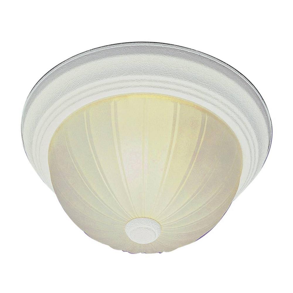 Stewart 3-Light Antique White Incandescent Ceiling Flushmount