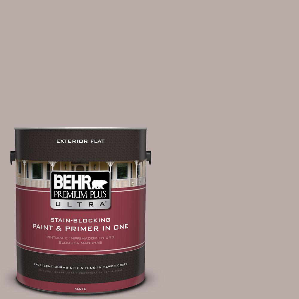 BEHR Premium Plus Ultra 1-gal. #730B-4 Winter Cocoa Flat Exterior Paint