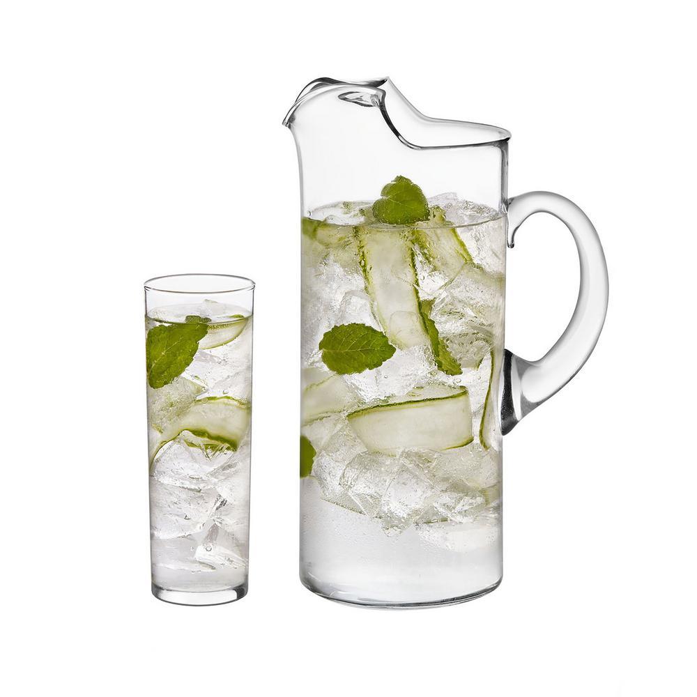 Modern Bar 7-Piece Clear Boozy Brunch Glass Entertainment Set