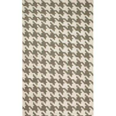 Houndstooth Grey 3 ft. x 5 ft. Area Rug