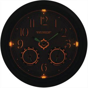 internet firstime 18 in round led trellis outdoor wall clock