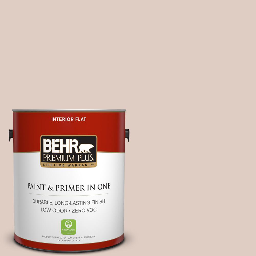 BEHR Premium Plus 1-gal. #PPL-77 Cocoa Parfait Zero VOC Flat Interior Paint