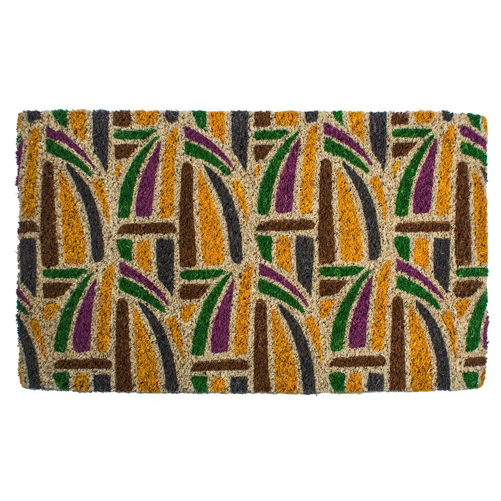 Entryways Kaleidoscope 18 in. x 30 in. Hand Woven Coconut Fiber Door Mat