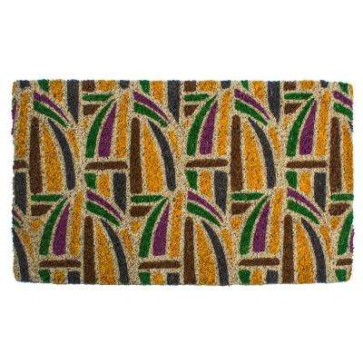 Kaleidoscope 18 in. x 30 in. Hand Woven Coconut Fiber Door Mat