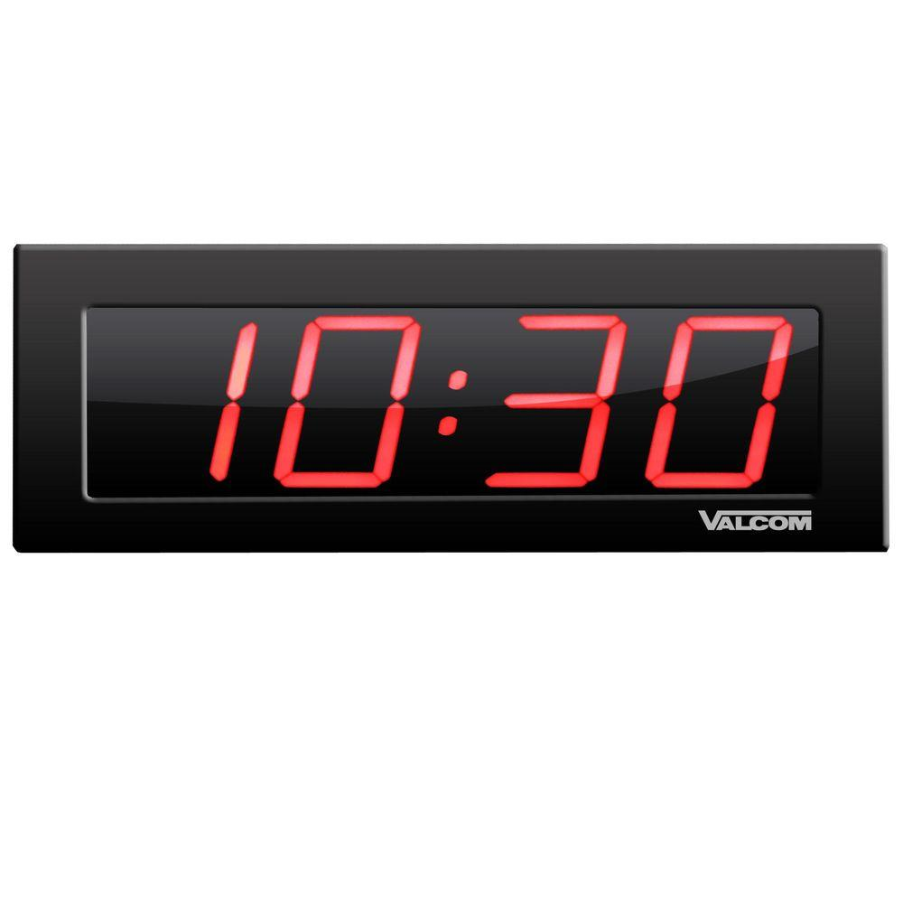 Valcom Ip Poe 4 In 4 Digit Digital Wall Clocks Vc Vip D440 The