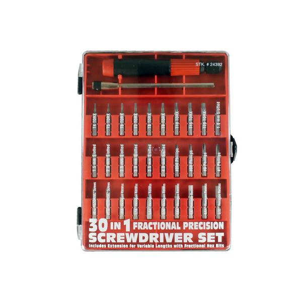 30-in-1 Fractional Precision Screwdriver Set