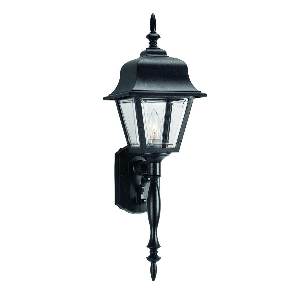 Outdoor Wall Lantern Black: Progress Lighting 1-Light Black Outdoor Wall Lantern-P5657